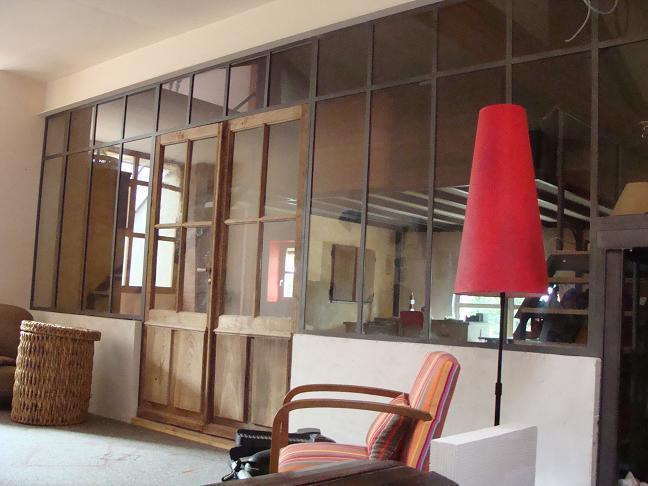 Separation De Cuisine En Verre Elegant Cloison Amovible Cuisine - Porte de placard style atelier